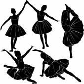 Ballet dancer girls — Stock Vector