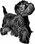 West Highland Terrier — Stock Vector