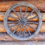Old wooden wheel — Stock Photo #69906151