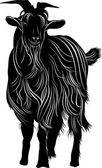 Close-up of black goat — Stock Vector