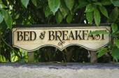 Bed and breakfast vintage sign — Stock Photo