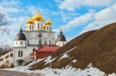 Ancient Russian city Dmitrov — Stock Photo