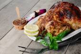 Baked tasty hot chicken — Stock Photo