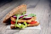 Homemade tasty sandwich — Stock Photo