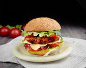 Homemade tasty sandwich — Zdjęcie stockowe
