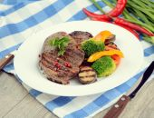 Delicious grilled beef steakes — Stock Photo