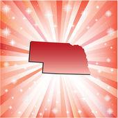 Red Nebraska. — Stock Vector