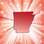Red Arkansas.  — Stock Vector