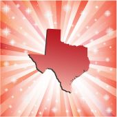 Red Texas. — Stock Vector