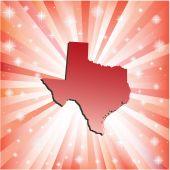 Red Texas. — Stock Vector