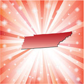 Red Tennessee.  — Stock Vector