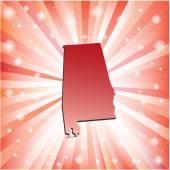 Red Alabama.  — Stock Vector