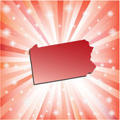 Red Pennsylvania. — Stock Vector