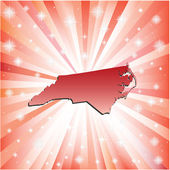 Red North Carolina.  — Stock Vector