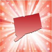 Red Connecticut.  — Stock Vector