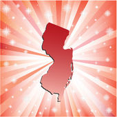 Red New Jersey.  — Stock Vector