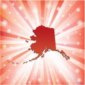 Red Alaska.  — Stock Vector