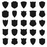 Black Shields. — Stock Vector #53068597