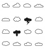 Vector cloud shapes set — Stock Vector