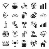 Set of twenty five wifi icons — Stock Vector