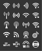 Set of twenty wifi icons — Stock Vector
