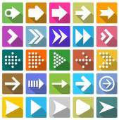25 arrow icon set . — Stock Vector