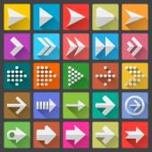 25 arrow icon set — Stock Vector