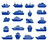 Ship and boat icon set.  — Stock Vector