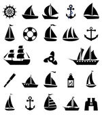 Sailboat symbol set. — Stock Vector