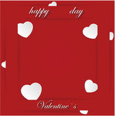 Card for Valentine's Day on a Red Background.  — Vector de stock