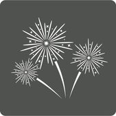 Fireworks sign icon. — Stock Vector