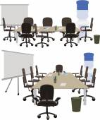 Office space to discuss working ideas — Stock Vector