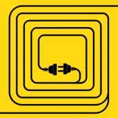 Koncepcja połączenia, rozłączenie, energii elektrycznej. — Wektor stockowy