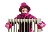 Cold Radiator — Stock Photo