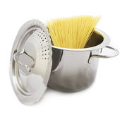 Spaghetti in Pot — Stock Photo