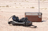 Old military binoculars — Stock Photo