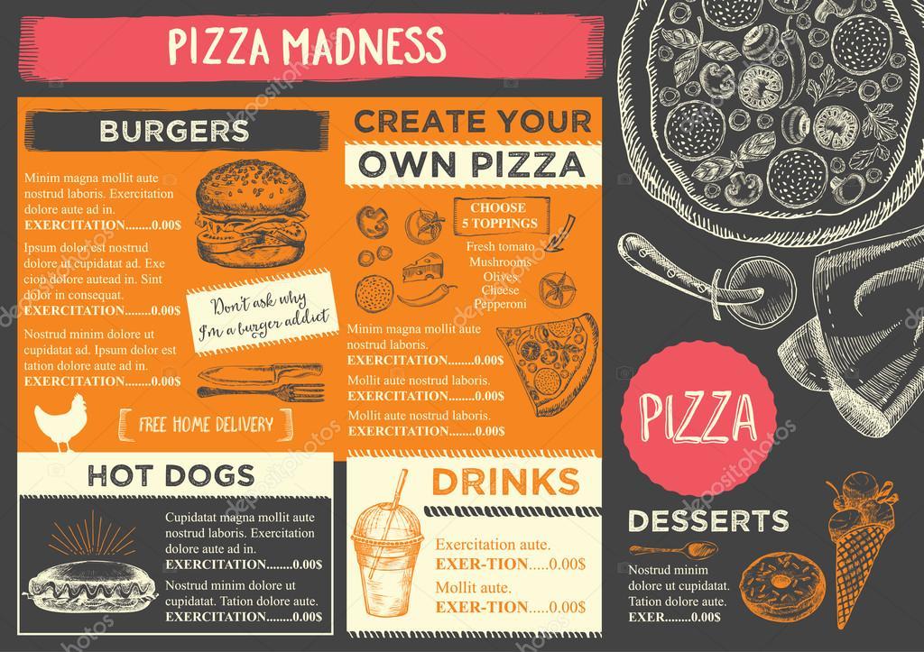 Restaurant menu brochure template Vector Marchi 108544148 – Restaurant Brochure Template