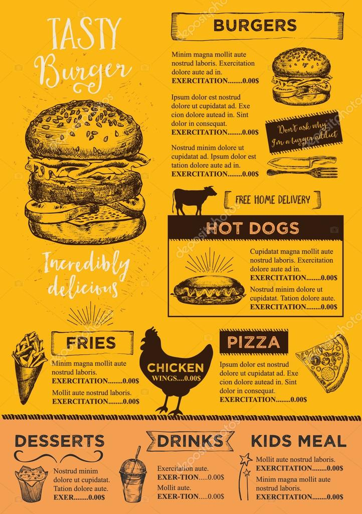 Restaurant brochure template Vector Marchi 108544390 – Restaurant Brochure Templates
