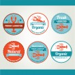 Set of seafood icons. — Stock Vector #51994617