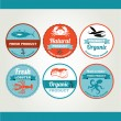 Set of seafood icons — Stock Vector #51994675