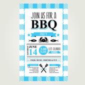 Barbecue party invitation. — Stock Vector