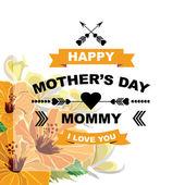 Poster Gelukkige moederdag — Stockvector