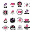 Flower shop icons. — Stock Vector #57520745