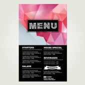Restaurant cafe menu, template design — Stockvector