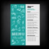 Restaurant cafe menu, template design. — Stock Vector