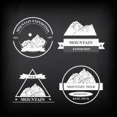 Set of expedition badges — Vetorial Stock