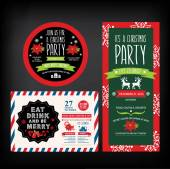 Christmas restaurant and party menu, invitation. — Stock Vector