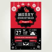 Invitation Merry Christmas — Stock Vector