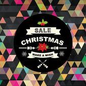 Weihnachten-Verkauf-poster — Stockvektor