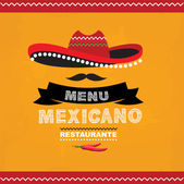 Menu mexican, template design. — Stockvektor